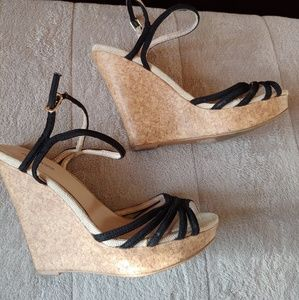 Maurices strappy wedges